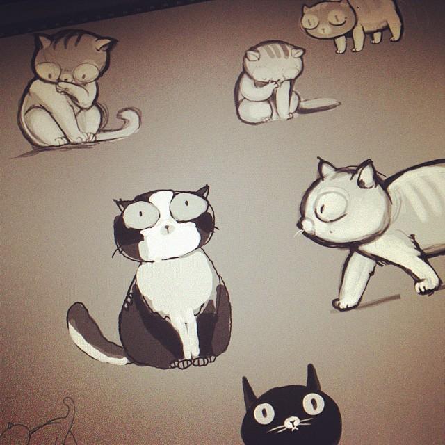 Don't Be Sad, Draw Kittens Instead. #cats #dailysketch